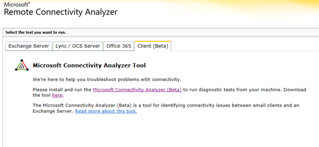 """Microsoft Remote Connectivity Analyzer"""