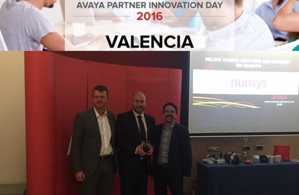 Nunsys recibe el premio de mejor partner AVAYA para Mid-Market en Europa