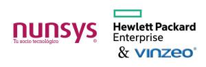 Logo Nunsys + HPE y VINZEO