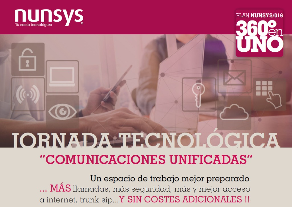Imagen de la Jornada Tecnologica de Nunsys sobre Comunicaciones Unificadas de Ontinyent