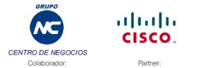 Logos de Grupo NC y CISCO evento de Comunicaciones Unificadas de Nunsys en Ontinyent