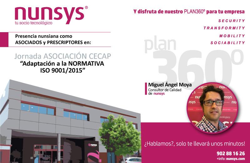 Imagen de la Jornada de Nunsys: Adaptación a la normativa ISO 9001/2015 en CECAP