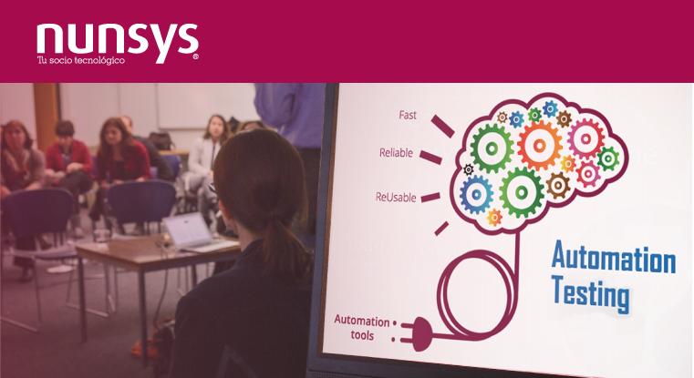 Imagen de la ponencia de Jorge Capel de Nunsys sobre automatización de pruebas
