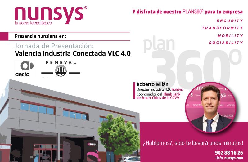Nunsys en la primera jornada sobre Industria 4.0 conectada organizada por Aecta y Femeval